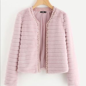 NWOT Pink Faux Fur Jacket, Only tried on once! 💗